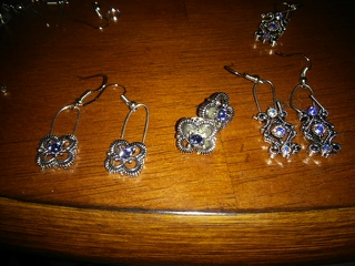 Pairs of earrings pictured